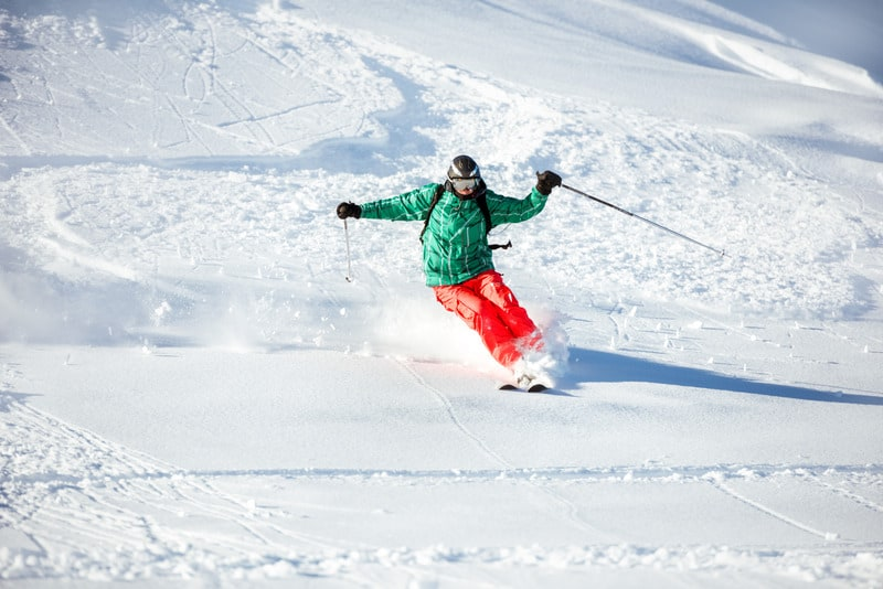 skiing is a popular winter activity